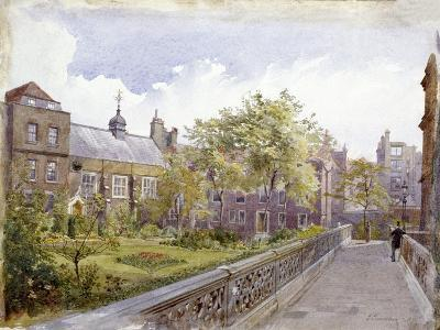 View of the Staple Inn and Garden, London, 1882-John Crowther-Giclee Print