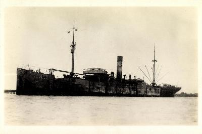 View of the Steamer Cragness Looking Battered--Giclee Print