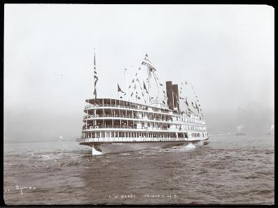 """View of the Steamship """"C.W. Morse"""", Presumably on the Hudson River Near West Point Upon the Visit…-Byron Company-Giclee Print"""