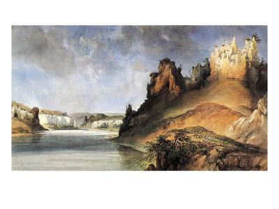 View Of The Stone Walls-Karl Bodmer-Giclee Print
