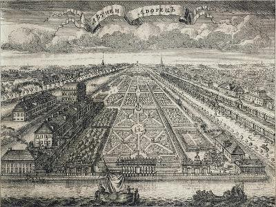 View of the Summer Gardens from the Neva River, 1717-Alexei Fyodorovich Zubov-Giclee Print