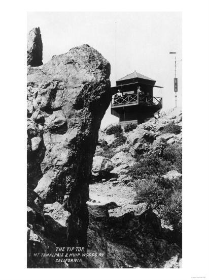 View of the Summit of Mt. Tamalpais - Mt. Tamalpais, CA-Lantern Press-Art Print