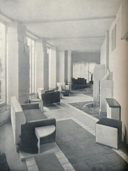 'View of the Sun Room in daylight, showing the three windows and columns', 1930-Unknown-Photographic Print