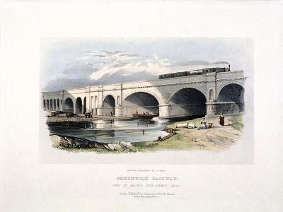 View of the Surrey Canal, Deptford, London, C1840--Giclee Print