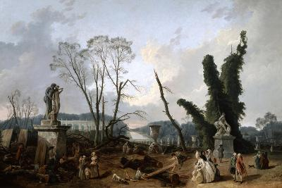 View of the 'Tapis Vert' in Versailles, 19th Century-Fanny Robert-Giclee Print