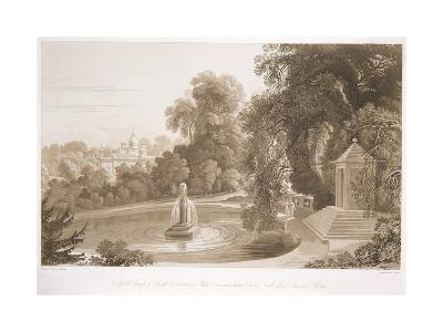 View of the Temple of Suryah and the Fountain of Mahah Doo-John Martin-Giclee Print