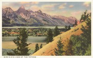View of the Tetons, Wyoming