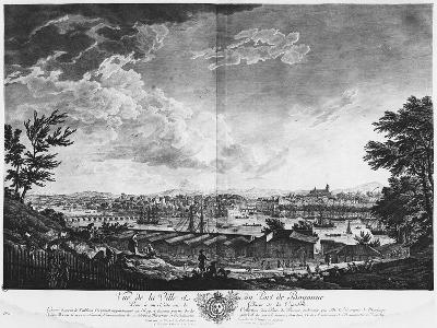 View of the Town and Port of Bayonne Seen from Halfway Down the Citadel-Claude Joseph Vernet-Giclee Print