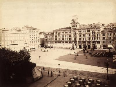 View of the Town Hall in Trieste-Giuseppe Wulz-Photographic Print