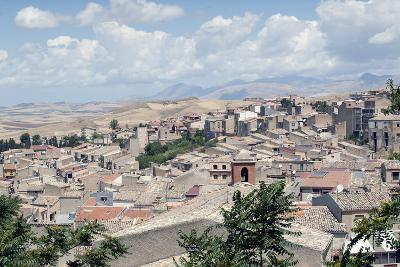 View of the Town of Corleone, Sicily, Italy, Europe-Oliviero Olivieri-Photographic Print