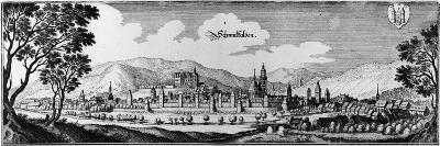 View of the Town of Schmalkalden, 1650-Matthaus, The Elder Merian-Giclee Print