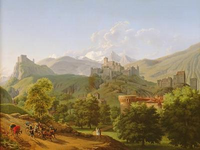 View of the Town of Sion in Valais, 1810-Lancelot Theodore Turpin de Crisse-Giclee Print