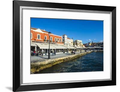 View of the Venetian Port of Chania, Crete, Greek Islands, Greece, Europe-Michael Runkel-Framed Photographic Print