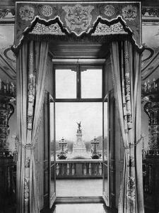 View of the Victoria Monument from Inside Buckingham Palace, London, 1935