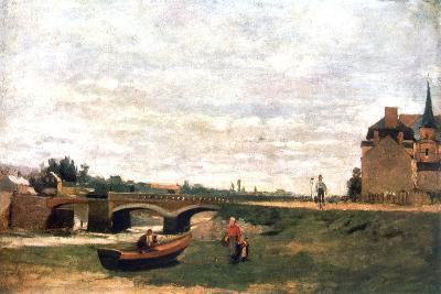 View of the Village, C1855-1892-Stanislas Lepine-Giclee Print