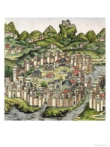 View of the Walled City of Constantinople, from the Nuremberg Chronicle by Hartmann Schedel 1493