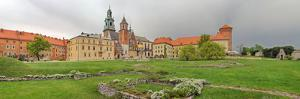 View of the Wawel Castle with the Wawel Cathedral, Krakow, Poland