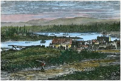 View of the Western Suburbs of Victoria, Vancouver Island, British Columbia, Canada, C1880--Giclee Print