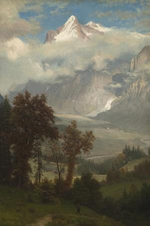 View of the Wetterhorn from the Valley of Grindelwald-Albert Bierstadt-Giclee Print