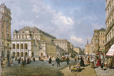 View of the Wiener Staatsoper, Vienna, 1872-Franz Alt-Giclee Print