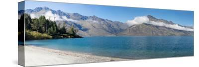 View of the Wilson Bay, Lake Wakatipu Seen from Glenorchy-Queenstown Road, Otago Region