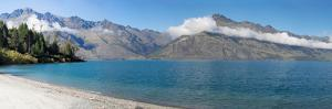 View of the Wilson Bay, Lake Wakatipu Seen from Glenorchy-Queenstown Road, Otago Region