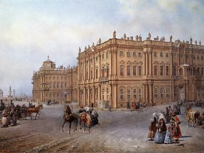 View of the Winter Palace in Saint Petersburg in 1843 by Vasily Sodovnikof--Photographic Print
