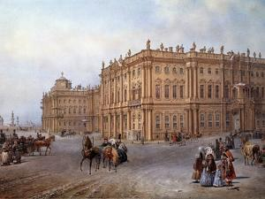 View of the Winter Palace in Saint Petersburg in 1843 by Vasily Sodovnikof