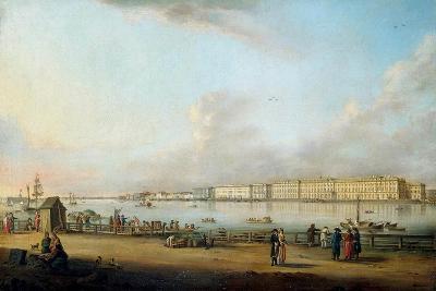 View of the Winter Palace of the Vasilyevsky Island, 1796-Johann Georg Von Mayr-Giclee Print