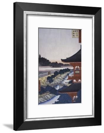 View of the Woods, 19th century-Ando Hiroshige-Framed Giclee Print