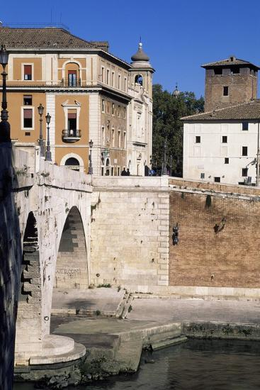 View of Tiber Island and Pons Cestius--Giclee Print