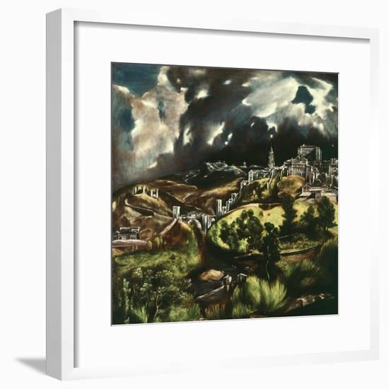 View of Toledo, Spain, 1595-1610-El Greco-Framed Giclee Print