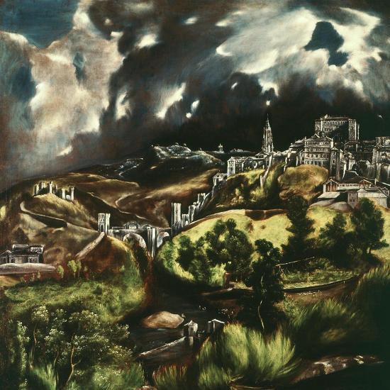 View of Toledo, Spain, 1595-1610-El Greco-Giclee Print