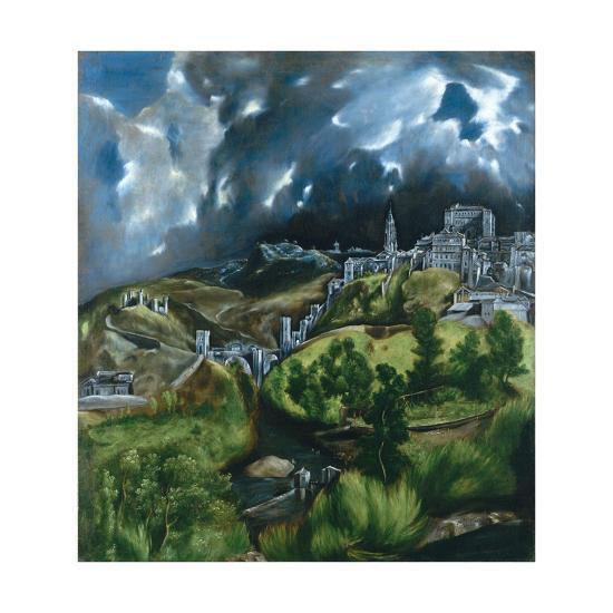 View of Toledo-El Greco-Giclee Print