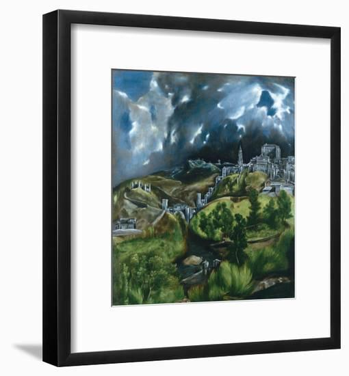 View of Toledo-El Greco-Framed Giclee Print
