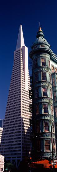 View of Towers, Columbus Tower, Transamerica Pyramid, San Francisco, California, USA--Photographic Print