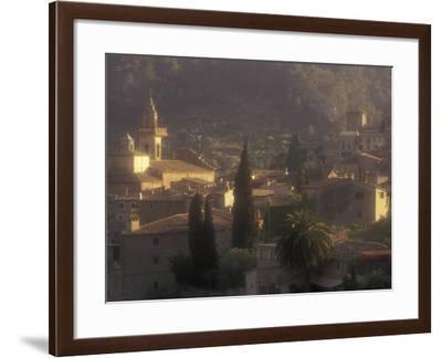 View of Town and Cartuja de Valledemossa, Mallorca, Balearics, Spain-Walter Bibikow-Framed Photographic Print