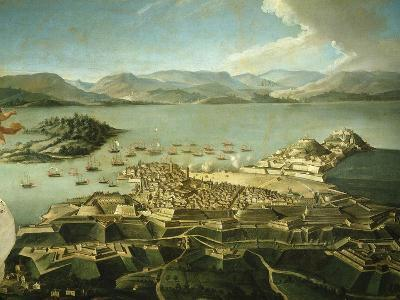 View of Town and Fortifications on Island of Corfu Venetian Until 1797 Now Greek--Giclee Print