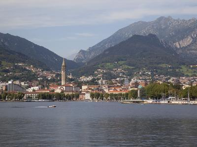 View of Town and Lake, Lecco, Lake Como, Lombardy, Italian Lakes, Italy, Europe-Frank Fell-Photographic Print