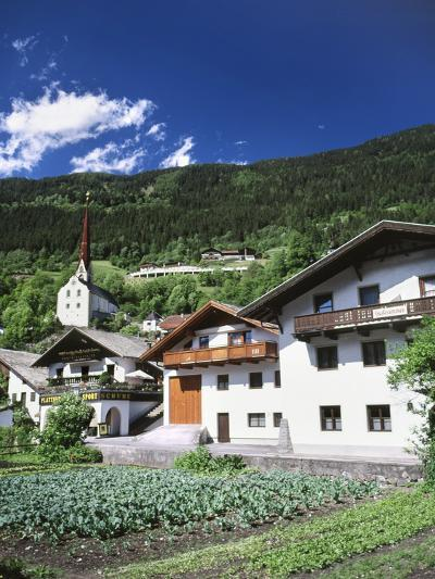 View of Town, Churches and Houses, Oetz, Tyrol, Austria-Walter Bibikow-Photographic Print
