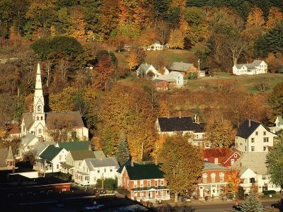 View of Town, South Royalties, Vermont, USA-Walter Bibikow-Photographic Print