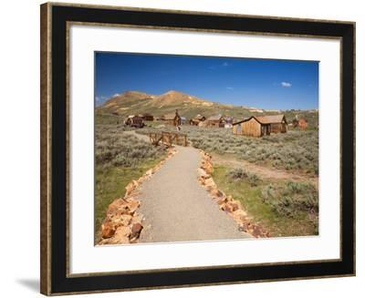 View of town with Standard Mine and Mill. Bodie State Historic Park, CA-Jamie & Judy Wild-Framed Photographic Print