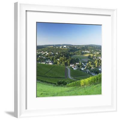 View of Trier at dawn, Trier, Rhineland-Palatinate, Germany-Ian Trower-Framed Photographic Print