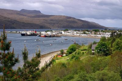 View of Ullapool Harbour, Highland, Scotland-Peter Thompson-Photographic Print