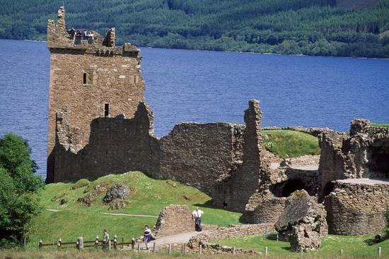 View of Urquhart Castle with Loch Ness in the Background--Giclee Print