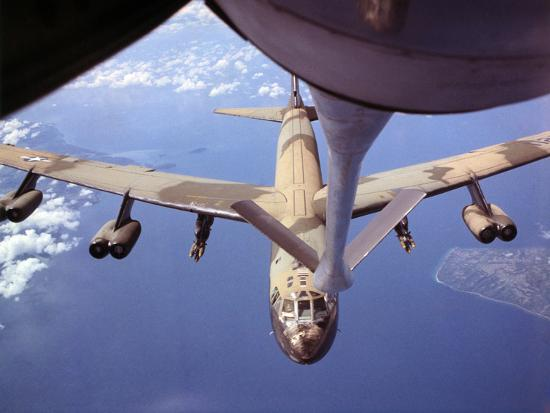View of USAF B-52 Stratofortress Bomber in Flight--Photographic Print