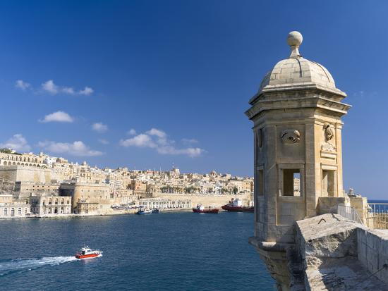 View of Valletta with Grand Harbor Seen from Senglea, Valletta, Malta-Martin Zwick-Photographic Print