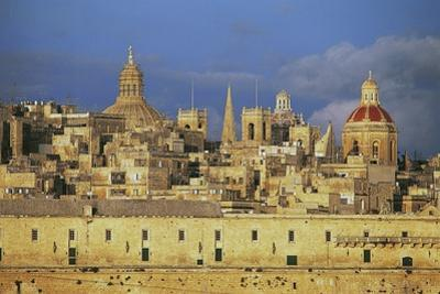 View of Valletta, with Holy Infirmary or Hospital of Knights of Malta, 1574, in Foreground, Malta