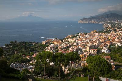 View of Vesuvio and Terrheinian Sea from Above Sorrento, Costiera Amalfitana (Amalfi Coast)-Frank Fell-Photographic Print