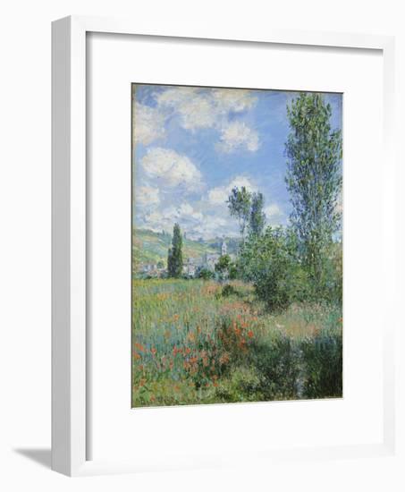 View of Vetheuil, 1880-Claude Monet-Framed Giclee Print